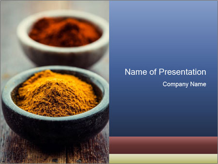 culinary indian spices powerpoint template & backgrounds id, Modern powerpoint