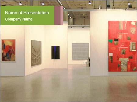 modern art exhibition powerpoint template backgrounds google