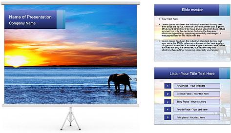 Elephant In Sri Lanka Modèles des présentations  PowerPoint