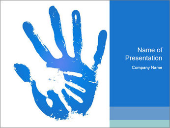 Hand Print PowerPoint Template