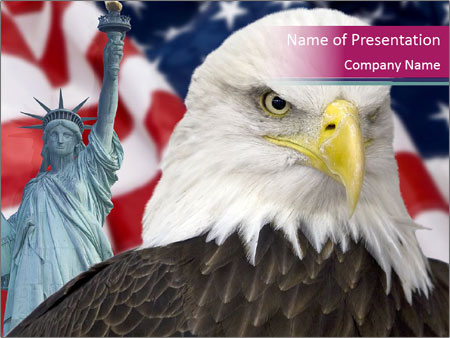 Eagle As Symbol Of The Usa Powerpoint Template Backgrounds Google
