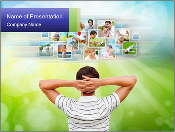 Display Photos PowerPoint Template