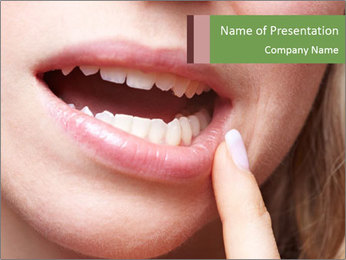 Woman with Toothache PowerPoint Template