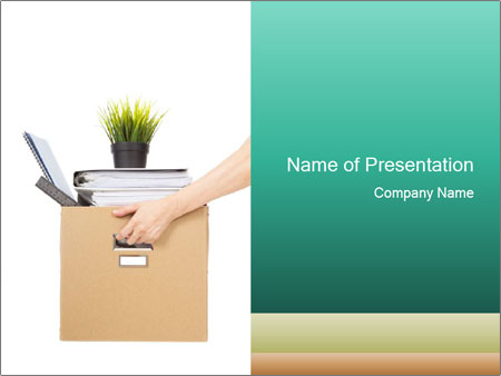 pack personal things after job lost powerpoint template
