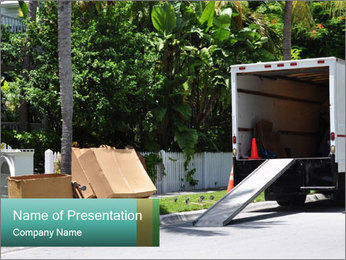 Load Boxes into Truck PowerPoint Template