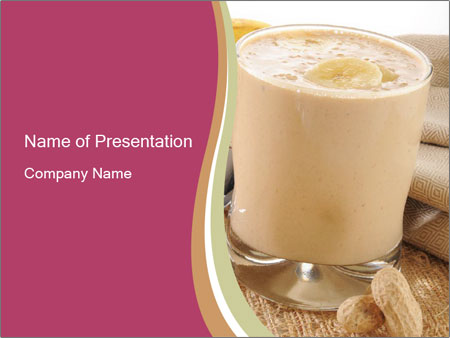 banana yogurt powerpoint template & backgrounds id 0000031713, Presentation templates
