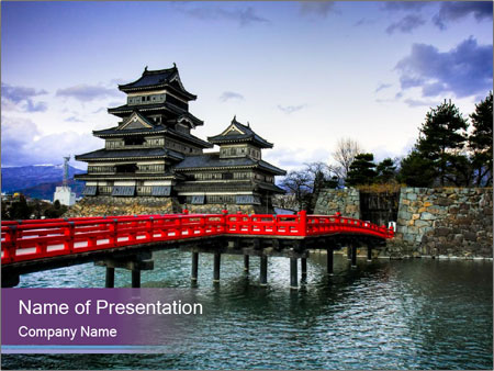 Antient Tample In Japan Powerpoint Template Backgrounds Google
