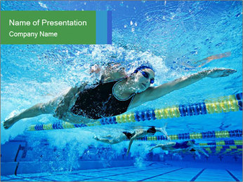 Swimming World Competition PowerPoint Template