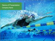 Swimming World Competition PowerPoint Templates