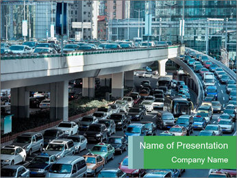 Automobile Traffic Jam PowerPoint Template
