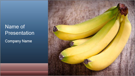tropical bananas powerpoint template backgrounds google slides