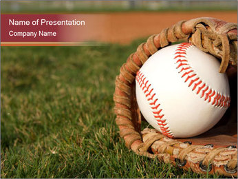 Baseball Competition PowerPoint Templates - Slide 1