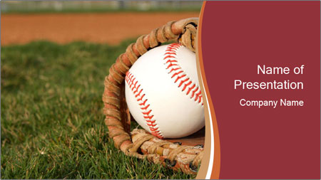 Baseball Competition PowerPoint Template