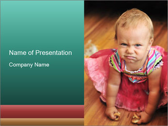 Baby Making Funny Faces PowerPoint Template