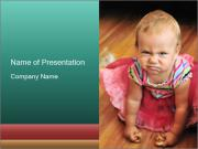 Baby Making Funny Faces PowerPoint Templates