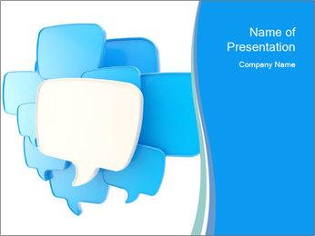Communication Bubbles PowerPoint Template