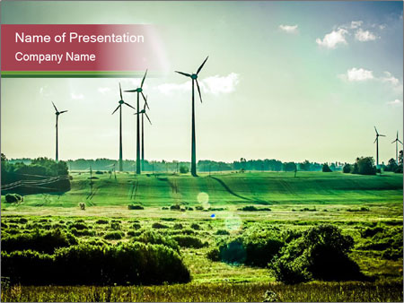 Wind Farm Powerpoint Template Backgrounds Google Slides Id