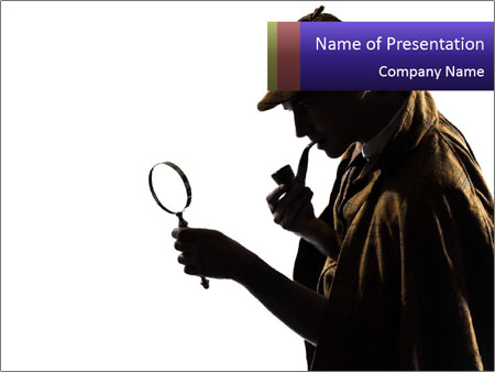 mysterious sherlock holmes powerpoint template & backgrounds id, Presentation templates
