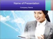 Woman Searching Information Online Шаблоны презентаций PowerPoint