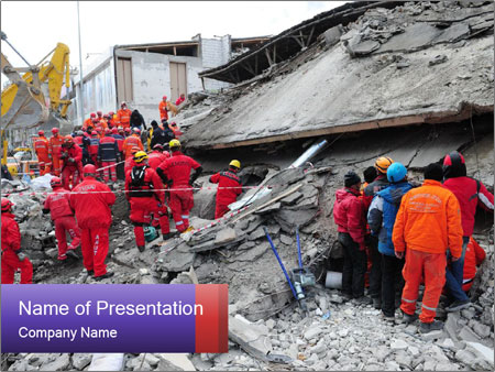 Destroyed buildings after the earthquake powerpoint template destroyed buildings after the earthquake powerpoint template toneelgroepblik Gallery