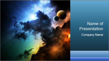 fantasy space powerpoint template backgrounds google slides id