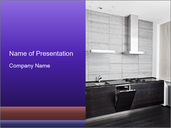 Modern Hardwood Kitchen Furniture PowerPoint Template