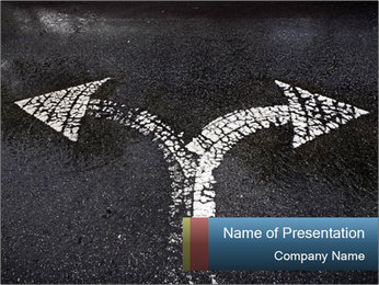 Road Direction Arrow PowerPoint Template