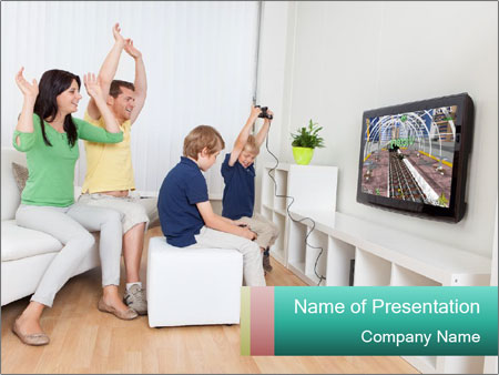 Family playing video games powerpoint template backgrounds google family playing video games powerpoint template toneelgroepblik Choice Image