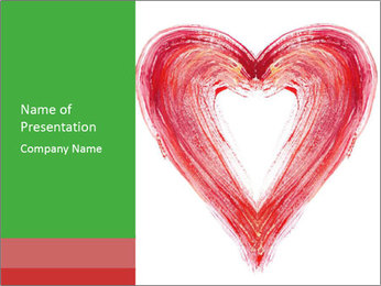Creative Heart Painting PowerPoint Template