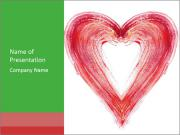 Creative Heart Painting PowerPoint Templates