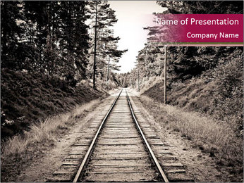 Old Railroad PowerPoint Template