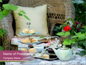 British Tea Time PowerPoint Template