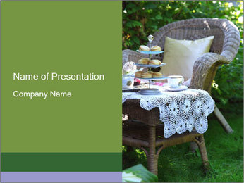Traditional Tea Time in England PowerPoint Template