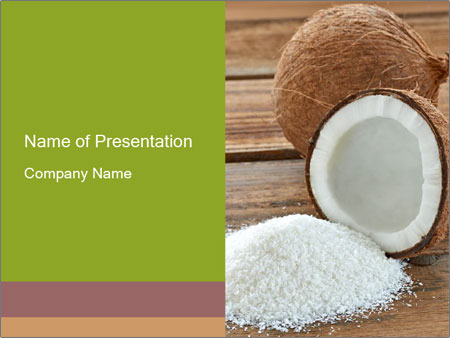 Coconut powder powerpoint template backgrounds id 0000032218 coconut powder powerpoint template toneelgroepblik Gallery