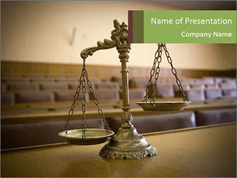 Scales of Liberty PowerPoint Template