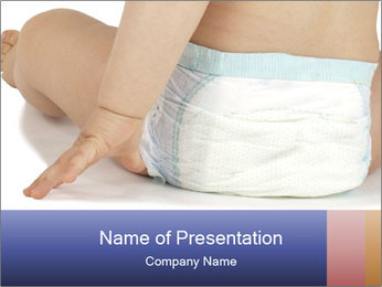 Baby Wearing Pampers PowerPoint Template