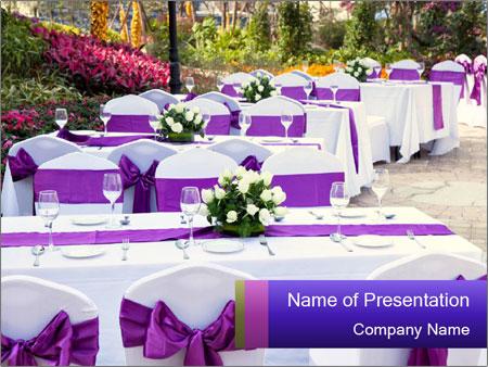 Lilac Wedding Decor Powerpoint Template Backgrounds Google Slides