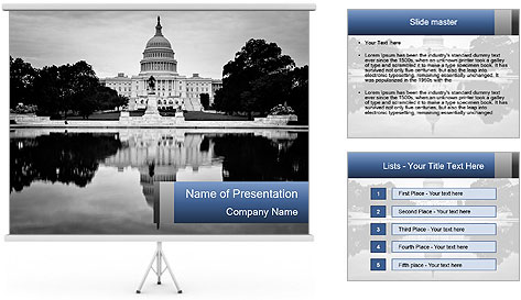 Washington dc powerpoint template backgrounds id for Oregon state powerpoint template