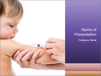 Injection for Baby PowerPoint Template