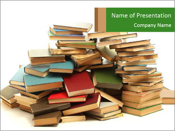 Pile of Old Books PowerPoint Template