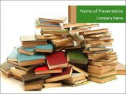 Pile of Old Books PowerPoint Templates