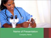 nurse - powerpoint template - smiletemplates, Modern powerpoint