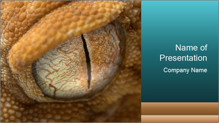 scary reptile eye powerpoint template backgrounds google slides