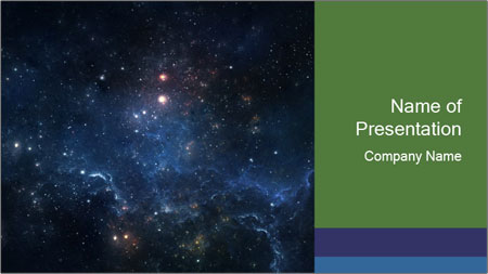 endless universe powerpoint template backgrounds google slides
