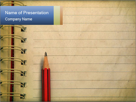 write memo powerpoint template & backgrounds id 0000032457, Presentation templates