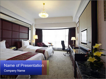 Classic Hotel Double Room PowerPoint Template