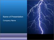 Lightning powerpoint template smiletemplates bright lightning at night powerpoint templates toneelgroepblik Gallery