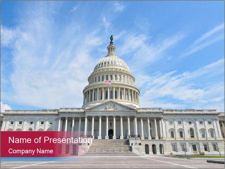 us congress building powerpoint template & backgrounds id, Modern powerpoint