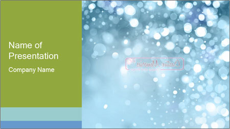 shiny snowflakes powerpoint template backgrounds google slides
