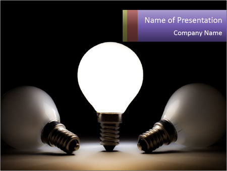 Switched On Light Bulb Powerpoint Template Backgrounds Id